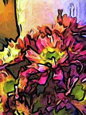 Digital Art - The Pink Flowers For The Right by Jackie VanO
