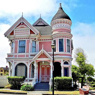 Photograph - The Pink Gingerbread House In Eureka by Kirsten Giving