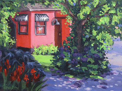 Painting - The Pink House by Karen Ilari