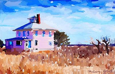 Painting - The Pink House, Newburyport, Ma. by Melissa Abbott