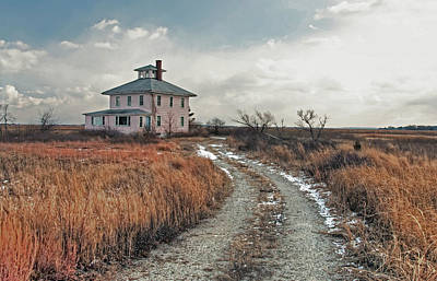Photograph - The Pink House by Wayne Marshall Chase