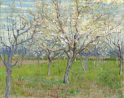 Painting - The Pink Orchard Arles  Beginning Of April 1888 Vincent Van Gogh  1853  1890 by Artistic Panda