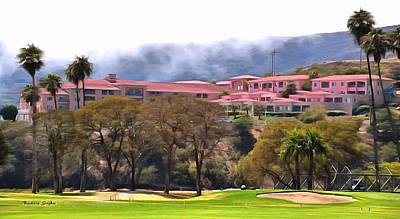 Photograph - The Pink Palace Avila Beach Painting by Barbara Snyder