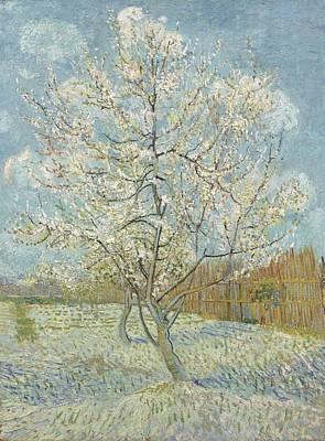 Painting - The Pink Peach Tree Arles, April - May 1888 Vincent Van Gogh 1853  1890 by Artistic Panda