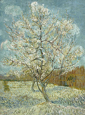 Peach Tree Painting - The Pink Peach Tree by Vincent van Gogh