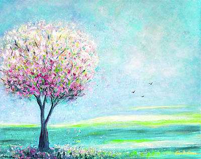 Painting - The Pink Tree by Gina De Gorna