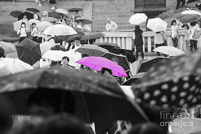 The Pink Umbrella Art Print