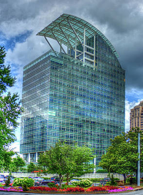 Photograph - The Pinnacle Reflections Office Buildings Buckhead Atlanta Art by Reid Callaway