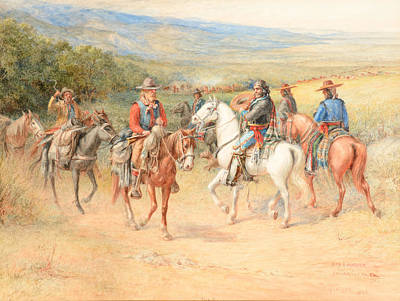 Vaquero Painting - The Pioneer by Celestial Images