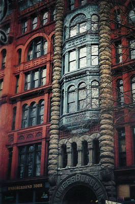 Photograph - The Pioneer Building In Pioneer Square by Nadalyn Larsen