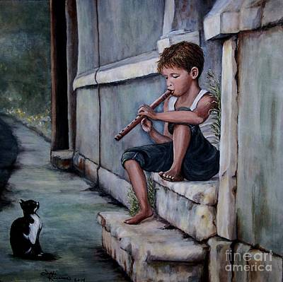 Painting - The Piper by Judy Kirouac