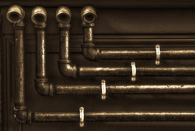 The Pipes Art Print by Andrew Kubica