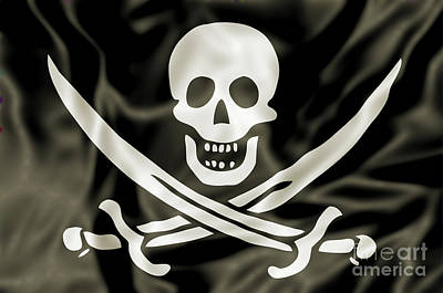 Piracy Jolly Roger Bones Danger Photograph - the Pirate Flag by Benny Marty