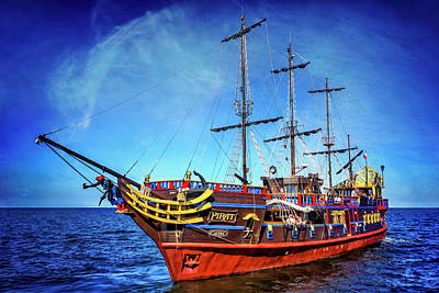 Tall Ship Photograph - The Pirate Ship Ustka In Sopot  by Carol Japp