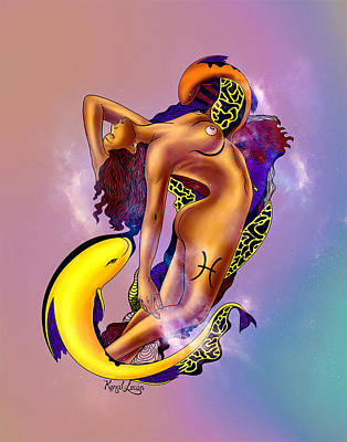 The Pisces Woman Art Print