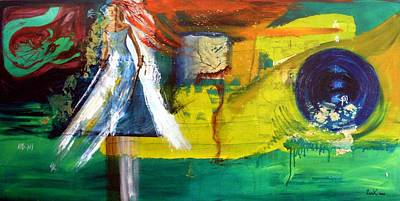 Kill Bill Painting - The Pissed Off Bride by Lee Krbavac