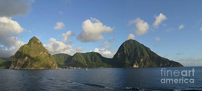 Digital Art - The Pitons Of Saint Lucia by Eva Kaufman
