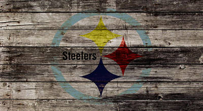 Patriot Mixed Media - The Pittsburgh Steelers W1 by Brian Reaves