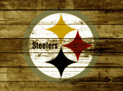 Big Ben Mixed Media - The Pittsburgh Steelers W4 by Brian Reaves
