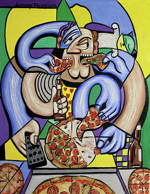 Beer Paintings - The Pizzaholic by Anthony Falbo