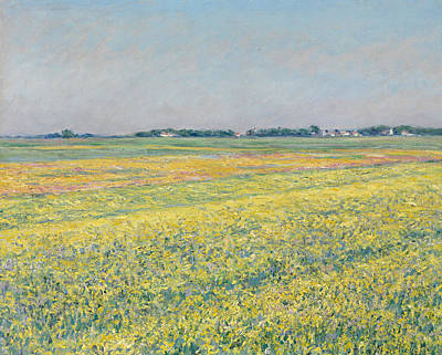 Painting - The Plain Of Gennevilliers, Yellow Fields by Gustave Caillebotte