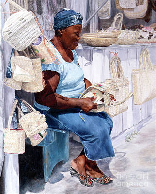 Painting - The Plait Lady by Roshanne Minnis-Eyma