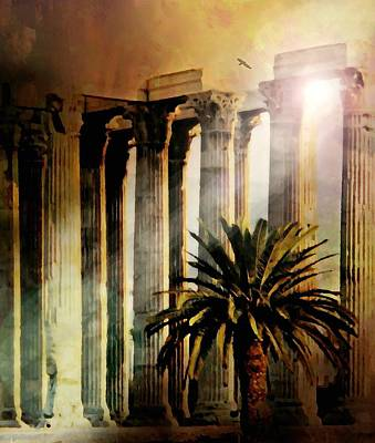 Photograph - The Plaka Ruins by Diana Angstadt