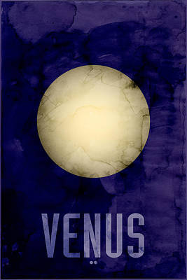 The Planet Venus Print by Michael Tompsett