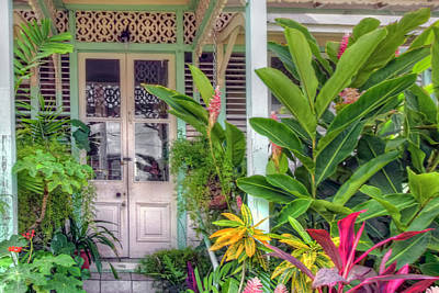 Photograph - Tropical Door by Nadia Sanowar