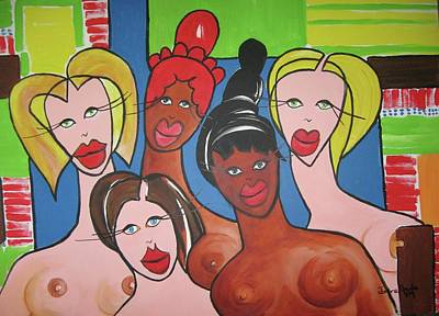 The Plastic Ladies Art Print