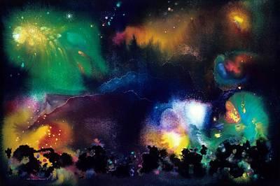 The Plateau Of Ancient Dreams Art Print by Lee Pantas