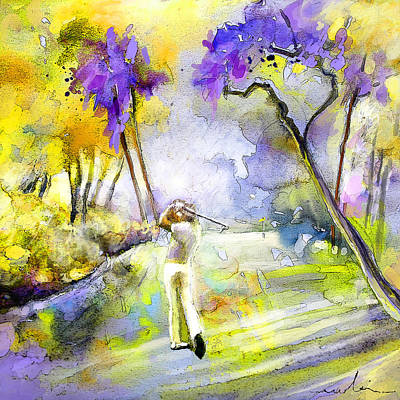 Golf Mixed Media - The Players Championship 2010 by Miki De Goodaboom