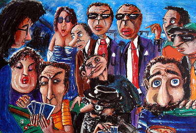 Painting - The Players by Chris Benice