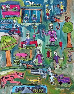 Drucker Painting - The Playground by Brandon Drucker
