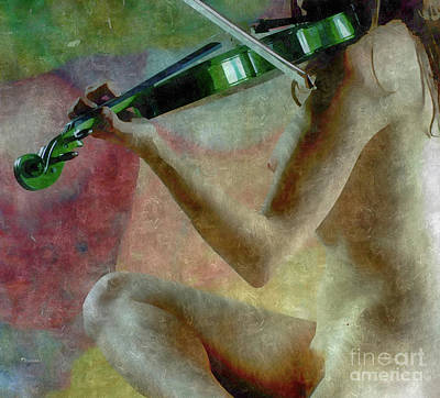The Playing Of Art Art Print by Steven Digman
