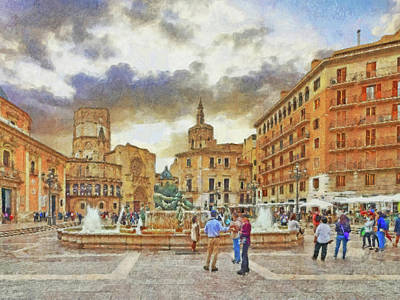 Digital Art - The Plaza De La Virgen by Digital Photographic Arts