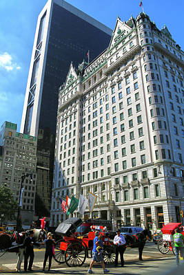 Grand Army Plaza Photograph - The Plaza Hotel by Mitch Cat