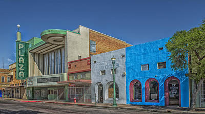 The Plaza Theatre - Laredo Texas Art Print