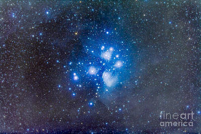 The Pleiades, Also Known As The Seven Art Print by Alan Dyer