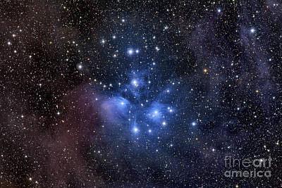 Shine Photograph - The Pleiades, Also Known As The Seven by Roth Ritter