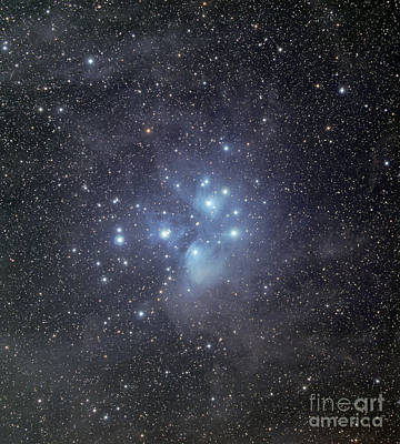 Radiant Image Photograph - The Pleiades Surrounded By Dust by Phillip Jones