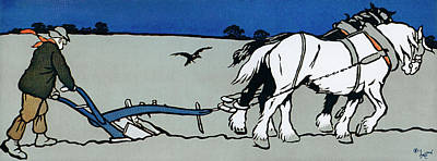 Painting - The Ploughman by Cecil Aldin