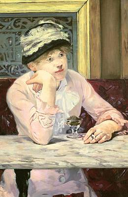 Marble Painting - The Plum by Edouard Manet