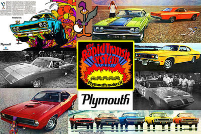 Motown Digital Art - The Plymouth Rapid Transit System Collage by Digital Repro Depot