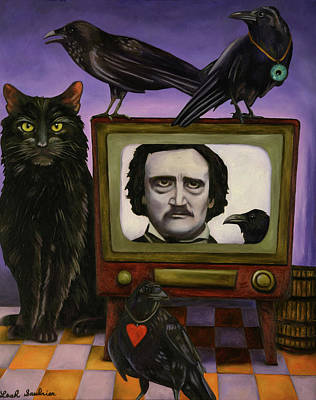 Art Print featuring the painting The Poe Show by Leah Saulnier The Painting Maniac