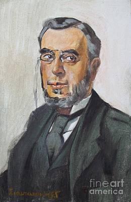 The Poet Demetrius Vikelas Art Print by George Siaba