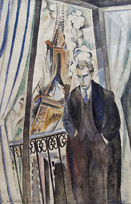 20th Century Painting - The Poet Philippe Soupault by Robert Delaunay