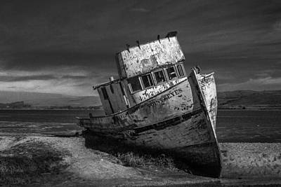 The Point Reyes In Black And White Print by Bill Gallagher