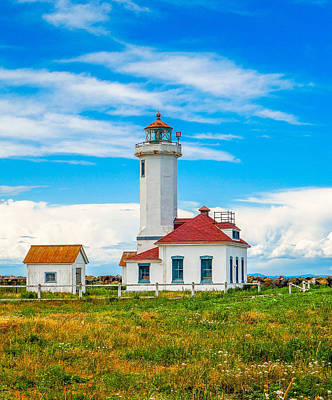 Photograph - The Point Wilson Lighthouse by Dan Sproul