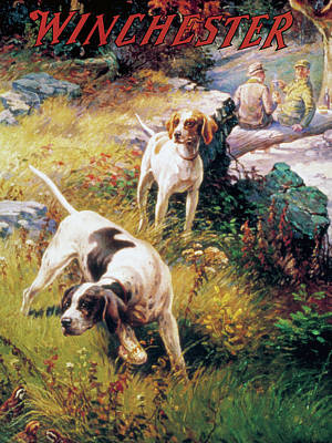 Painting - The Pointers by A Russell